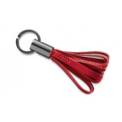 Porte-clés Audi en cuir rouge