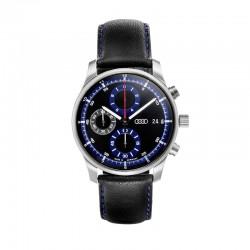 Montre chronographe Audi bleue et noire