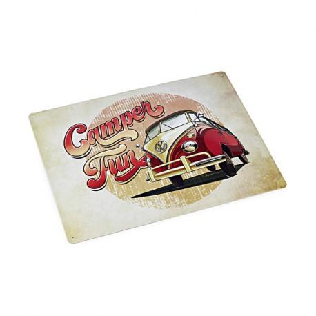 Plaque métal Combi Volkswagen Camper Fun
