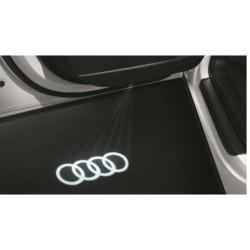 LED de seuil de porte avec projection des anneaux Audi