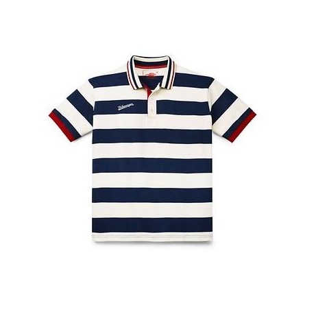 Polo Rayé bleu marine et blanc taille L