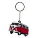Porte-clés Volkswagen Combi rouge et blanc