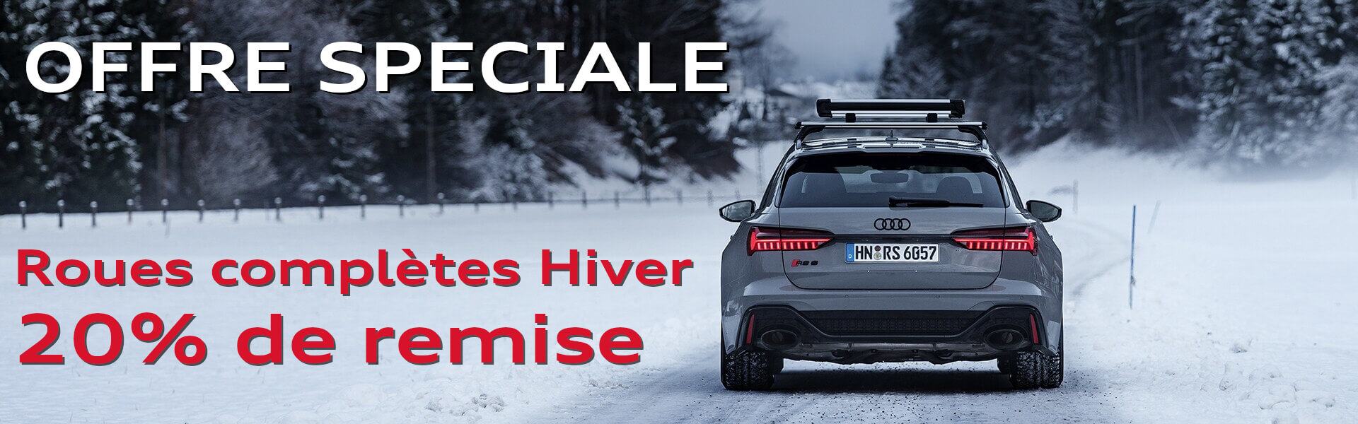 Promotion roues completes hiver audi